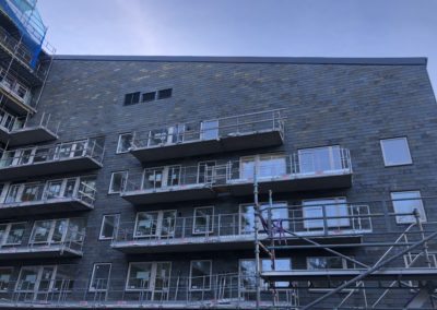 Nya Kvibergshuset (Tuve Bygg) Multicolor 50x25 Enkeltäckning